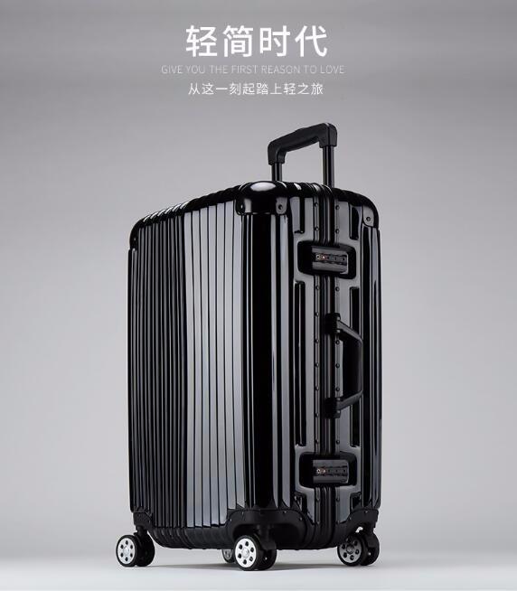 【臻元箱包】【包邮】JUSTREAL拉杆箱万向轮旅行箱高端皮箱铝框行李箱子男女20寸登机箱