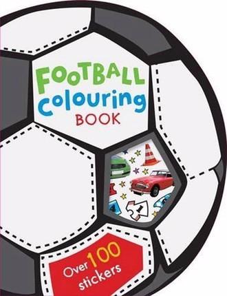 【中华商务】异形足球 英文原版 Football Colouring Book 足球填色绘本 活动书 贴纸书