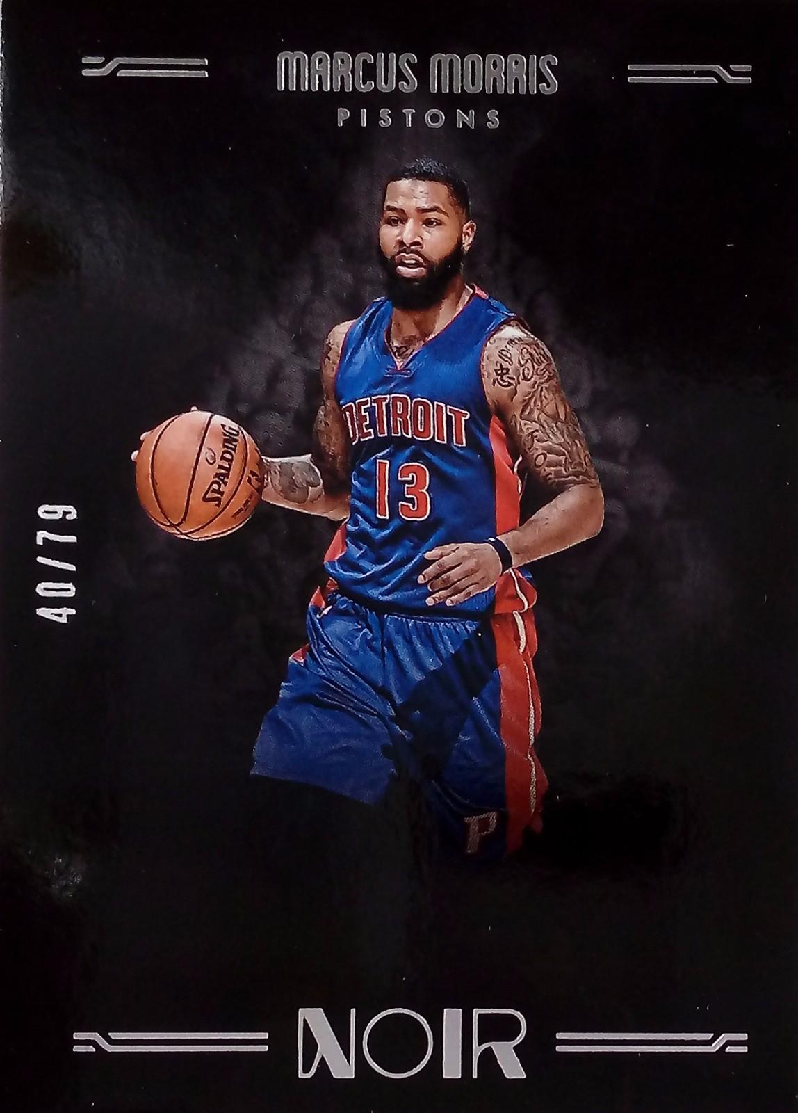 2016-17 Panini  诺尔篮球 基础卡彩色版 马库斯·莫里斯 底特律活塞  40-79