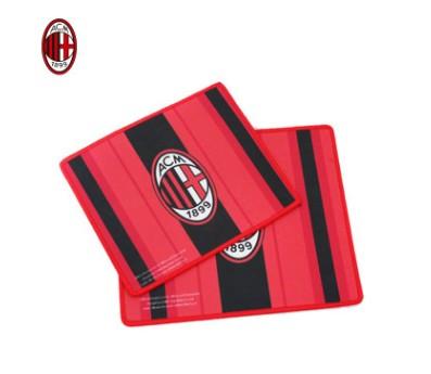 【孚德品牌】AC米兰正品授权红黑条纹鼠标垫小号 球迷礼物纪念品