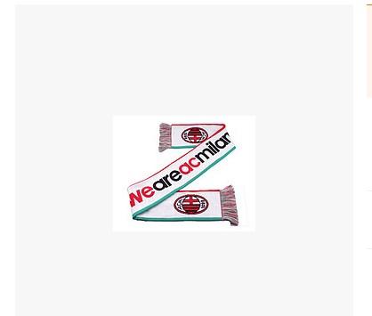 【孚德品牌】AC米兰官方正品围巾WEAREACMILAN 提花队标 白色球迷围巾