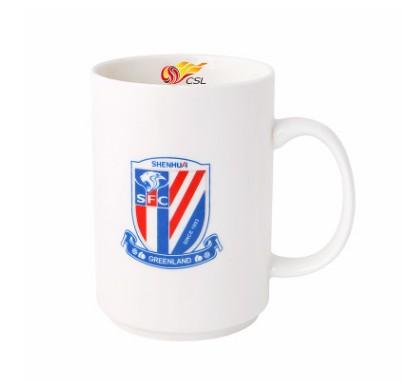 【孚德品牌】中超上海绿地申花时尚陶瓷马克杯办公水杯咖啡杯 球迷礼物