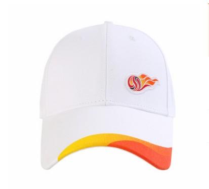 【孚德品牌】中超单LOGO白色时尚纯棉棒球帽户外运动遮阳帽
