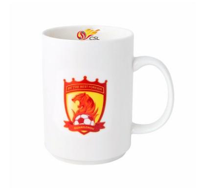 【孚德品牌】中超广州恒大时尚陶瓷马克杯办公水杯咖啡杯 球迷礼物