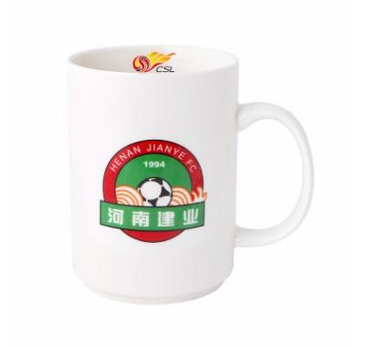 【孚德品牌】中超河南建业时尚陶瓷马克杯办公水杯咖啡杯 球迷礼物