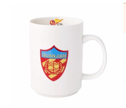 【孚德品牌】中超天津权健时尚陶瓷马克杯办公水杯咖啡杯 球迷礼物