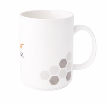 【孚德品牌】中超单LOGO时尚陶瓷马克杯办公水杯咖啡杯 球迷礼物
