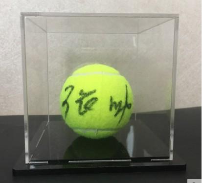 【不易流行】【包邮】现货收藏 张帅 含SA证书 亲笔签名 网球 裱框