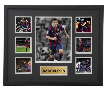 【不易流行】【包邮】贝克汉姆罗纳尔多C罗梅西复刻版亲笔签名照片相框周边礼物纪念品