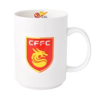 【孚德品牌】中超河北华夏幸福时尚陶瓷马克杯办公水杯咖啡杯 球迷礼物