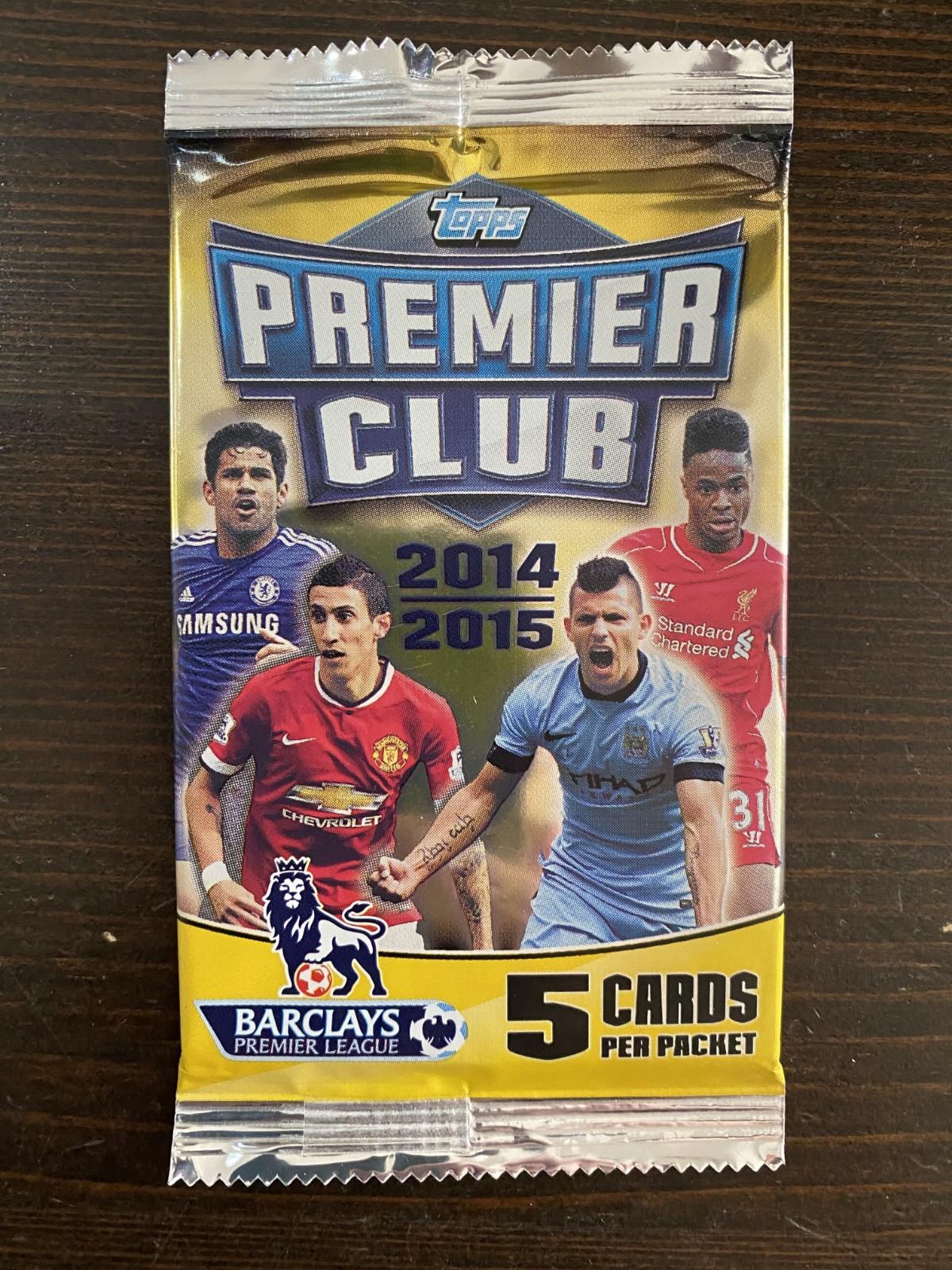2014-15 topps 英超 premier club 球星卡单包卡包