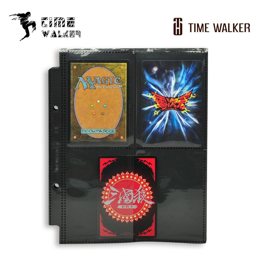 【华林阁】TW 侧插 黑色双面4格卡页-标准尺寸