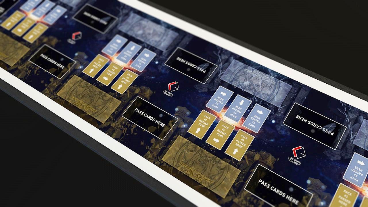 【华林阁】TW女神对决轮抓 8人用万智 轮抓桌布2米4长度 大型游戏牌垫