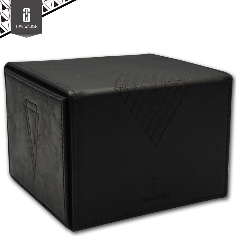 【华林阁】TW手工制作 翻斗卡牌盒 岁月消退皮料 竞技牌盒 收纳盒 卡牌盒