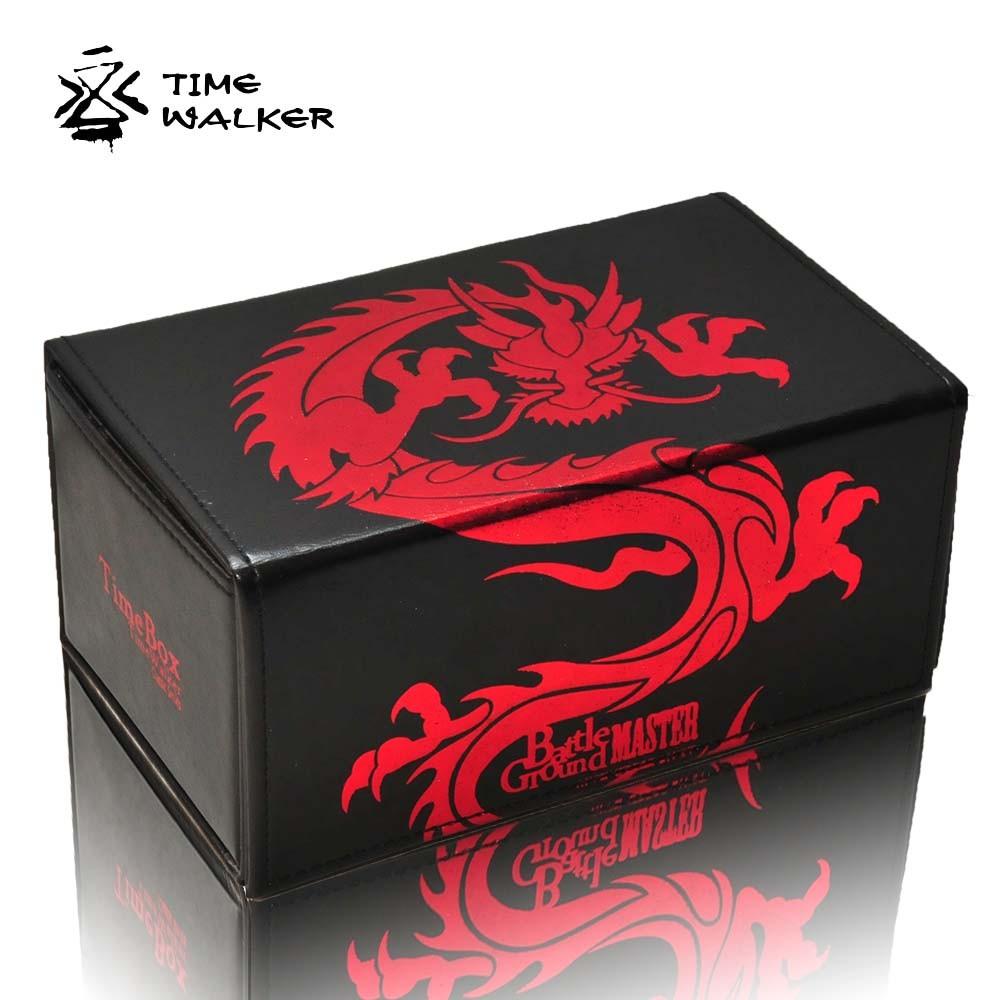 【华林阁】TW升级版 红金腾龙 战场大师对开牌盒 卡盒 带指示物收纳 经典
