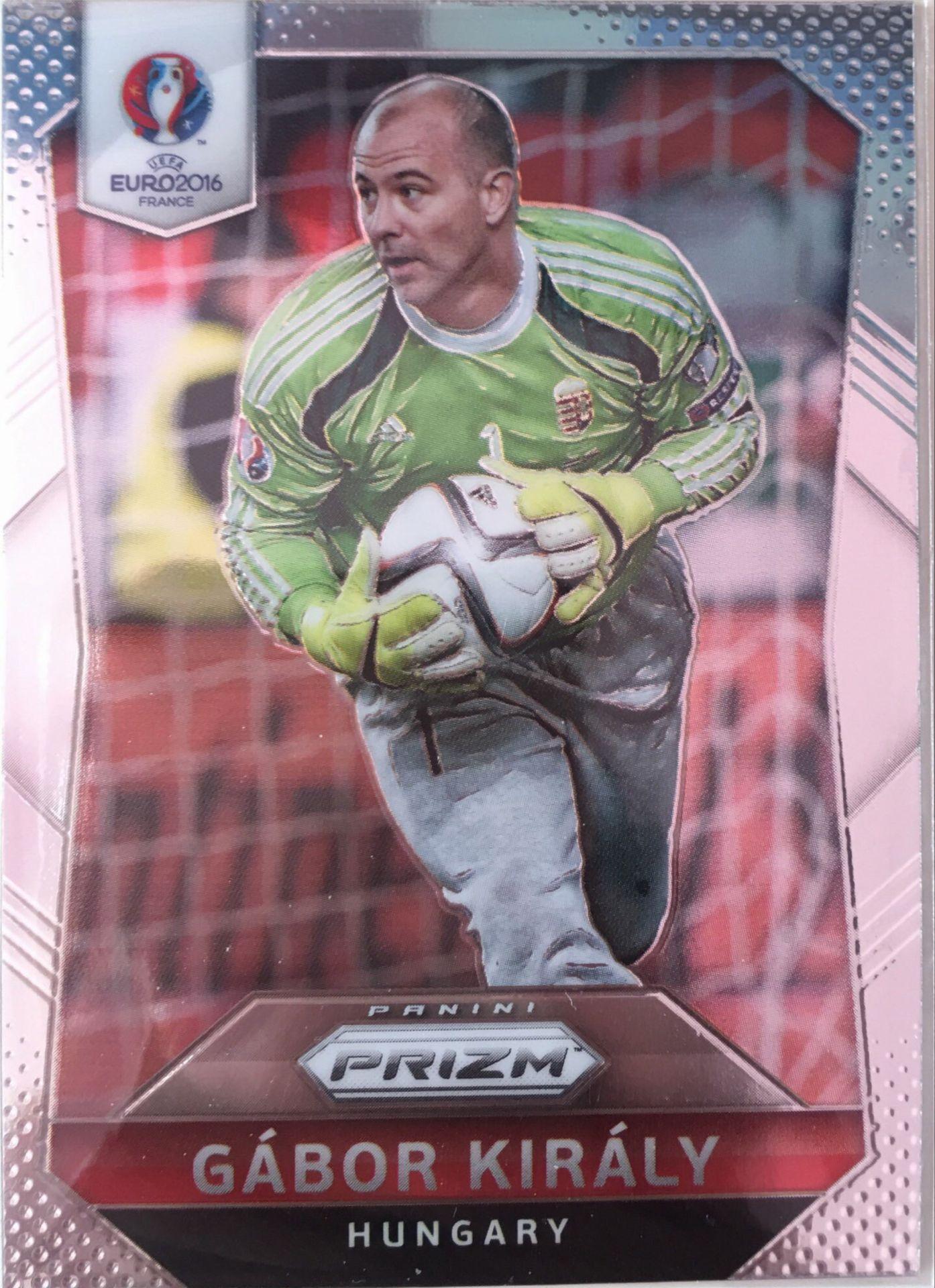 【Ed】2016Panini帕尼尼欧洲杯足球球星卡Gabor Kiraly基拉利匈牙利NO.236普卡
