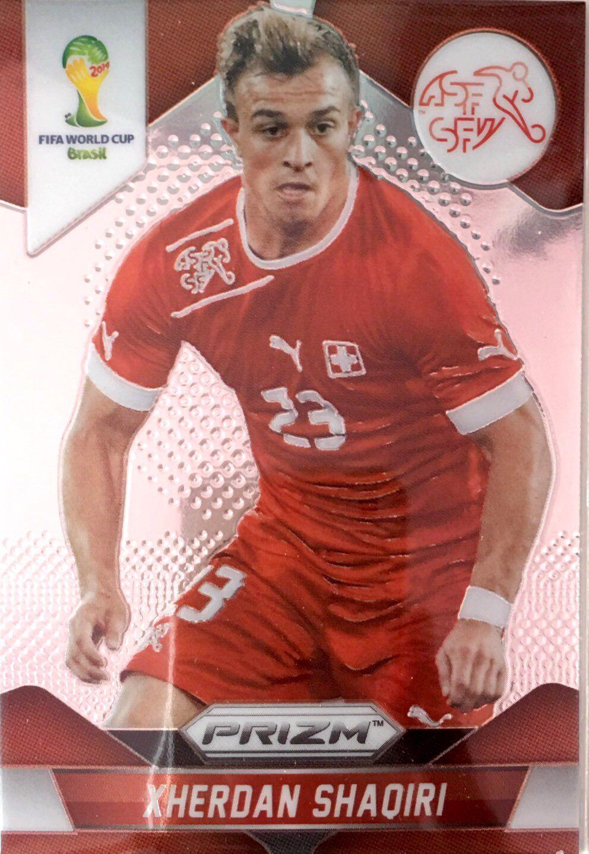 【普拉蒂尼】2014Panini帕尼尼巴西世界杯足球球星卡Xherdan Shaqiri沙奇里瑞士NO.186普卡