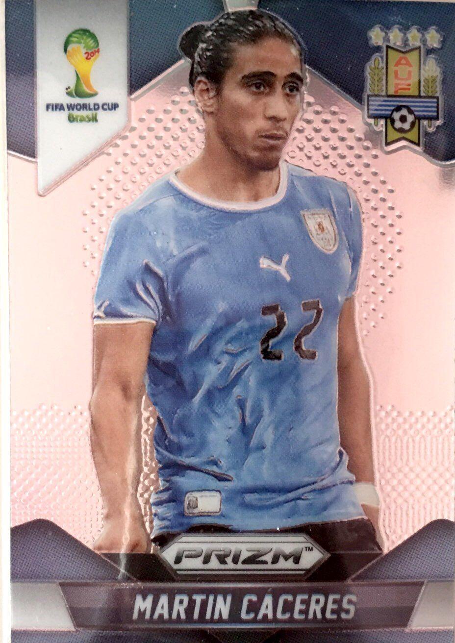【普拉蒂尼】2014Panini帕尼尼巴西世界杯足球球星卡Martin Caceres卡塞雷斯乌拉圭NO.190普卡