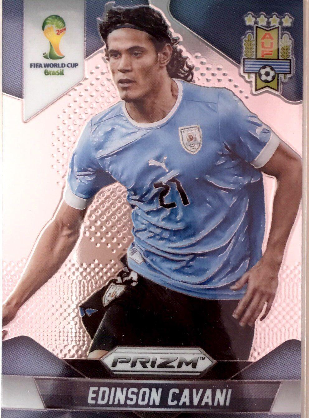 【普拉蒂尼】2014Panini帕尼尼巴西世界杯足球球星卡Edinson Cavani卡瓦尼乌拉圭NO.193普卡