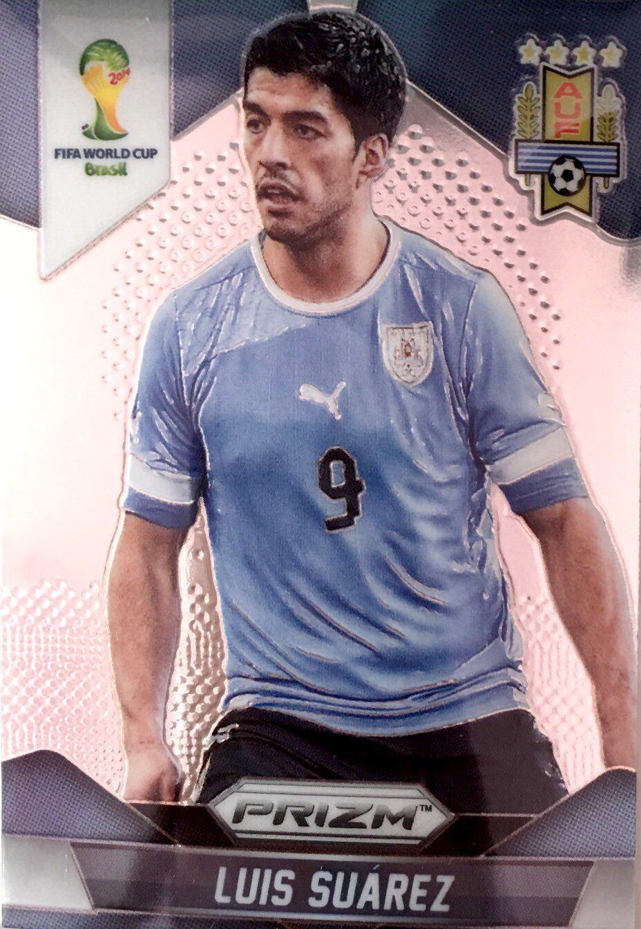 【普拉蒂尼】2014Panini帕尼尼巴西世界杯足球球星卡Luis Suarez苏亚雷斯乌拉圭NO.194普卡