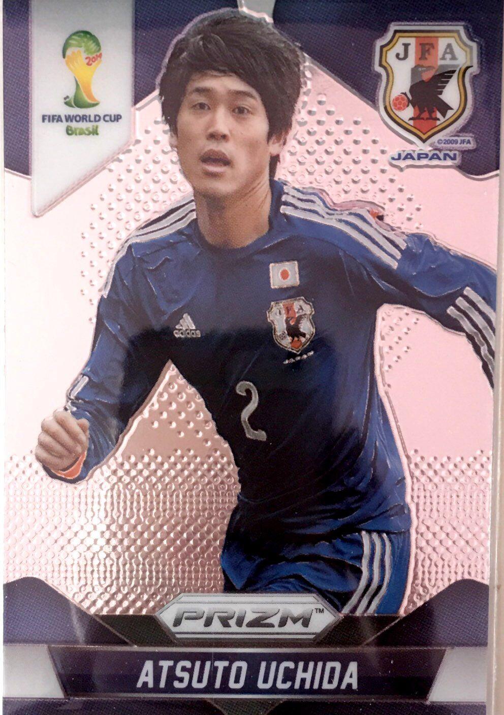 【普拉蒂尼】2014Panini帕尼尼巴西世界杯足球球星卡Atsuto Uchida内田笃人日本NO.195普卡