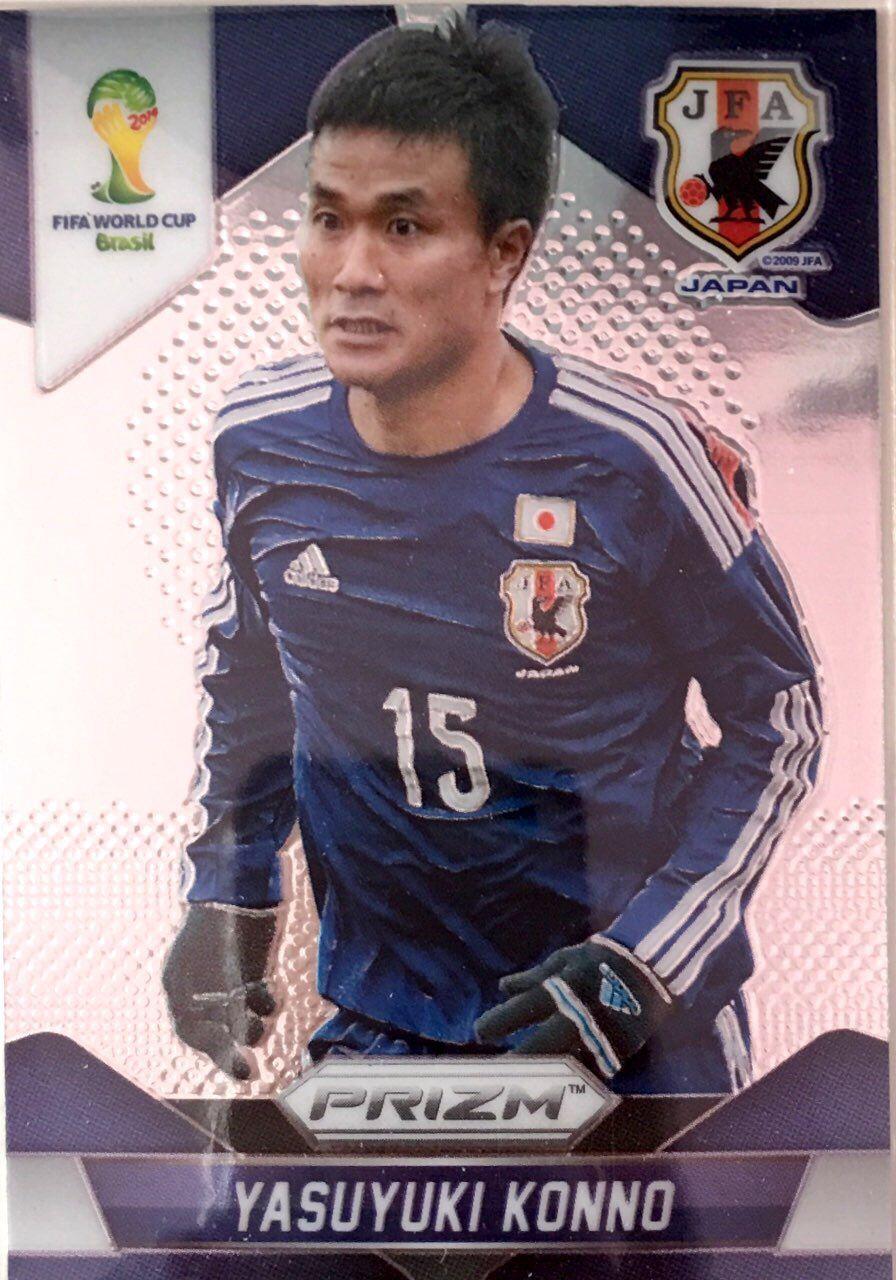 【普拉蒂尼】2014Panini帕尼尼巴西世界杯足球球星卡Yasuyuki Konno今野泰幸日本NO.198普卡