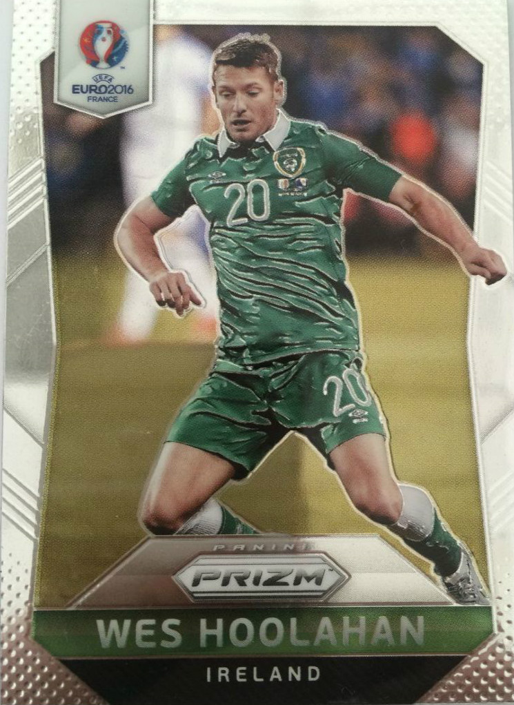 【Ed】2016Panini帕尼尼欧洲杯足球球星卡Wes Hoolahan胡拉汉爱尔兰NO.229普卡