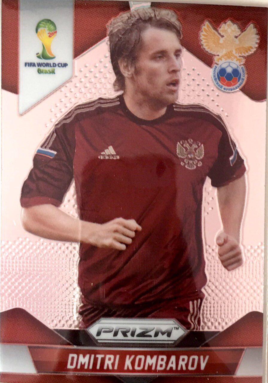 【普拉蒂尼】2014Panini帕尼尼巴西世界杯足球球星卡Dmitri Kombarov卡姆巴罗夫俄罗斯NO.163普卡
