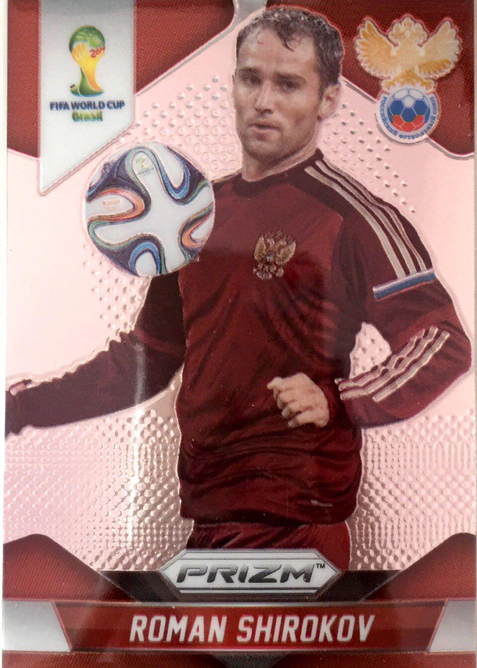 【普拉蒂尼】2014Panini帕尼尼巴西世界杯足球球星卡Roman Shirokov施罗科夫俄罗斯NO.165普卡