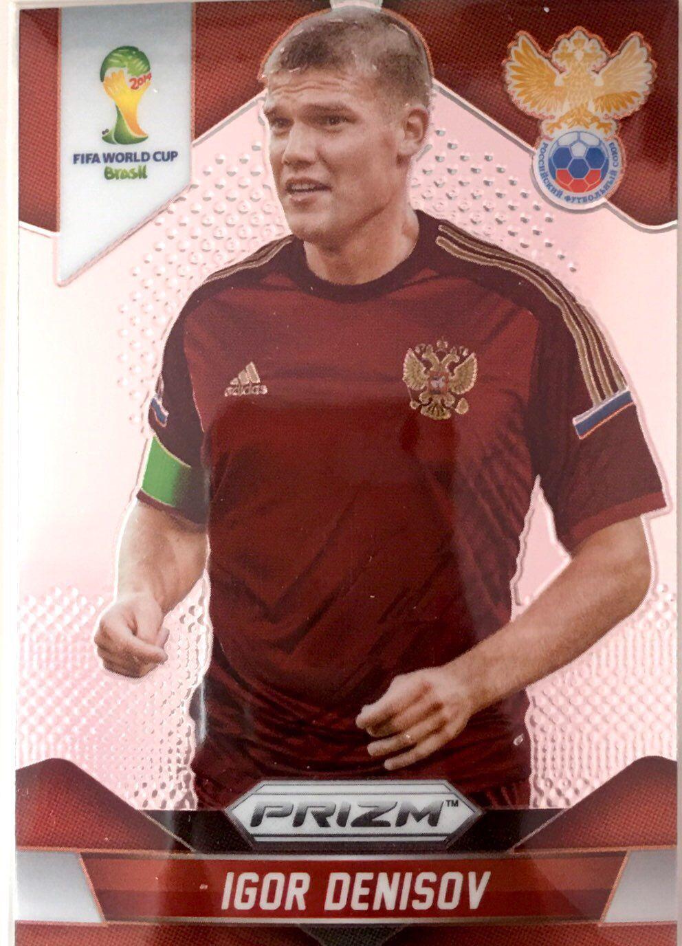 【普拉蒂尼】2014Panini帕尼尼巴西世界杯足球球星卡Igor Denisov德尼索夫俄罗斯NO.166普卡