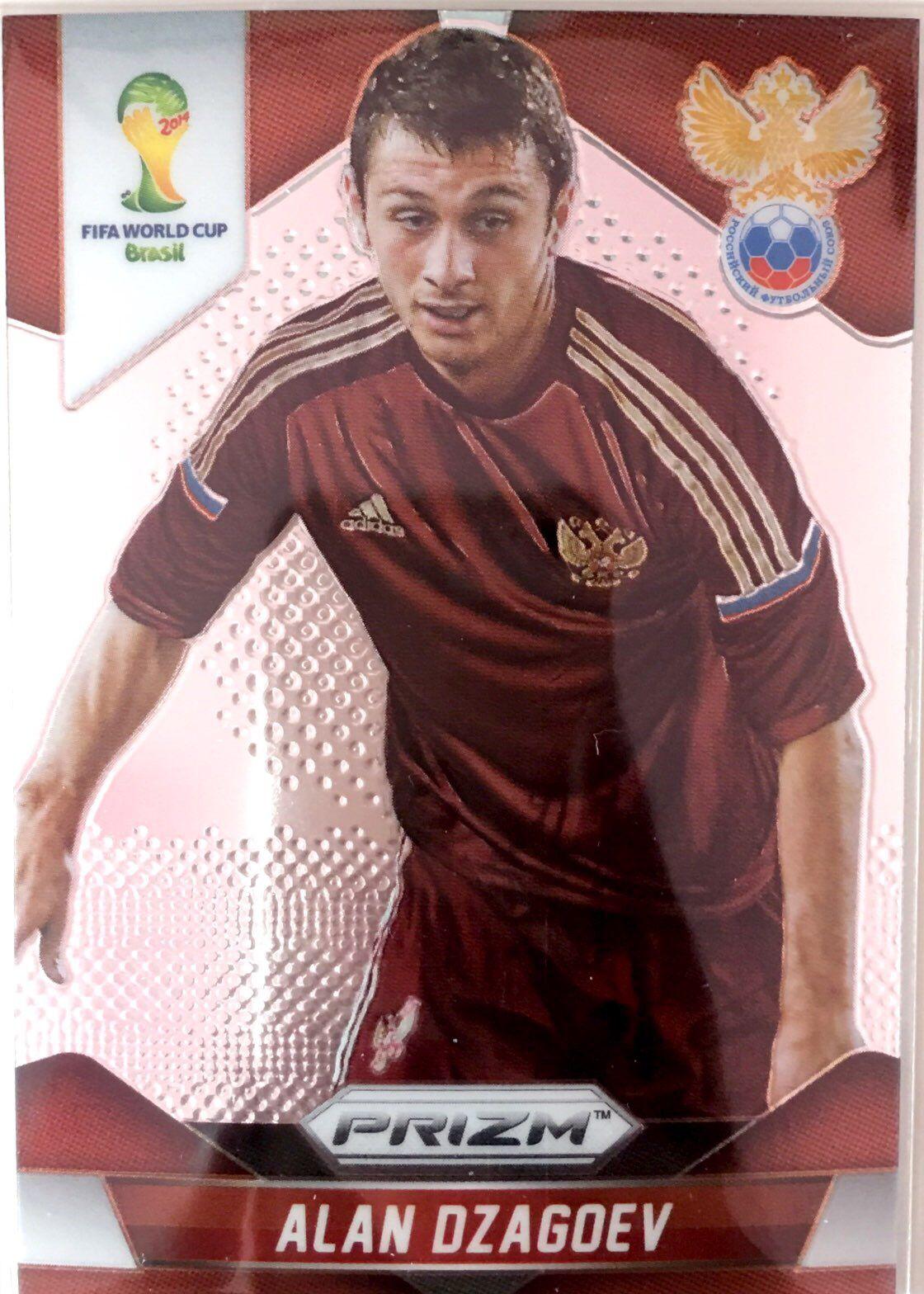 【普拉蒂尼】2014Panini帕尼尼巴西世界杯足球球星卡Alan Dzagoev德萨戈耶夫俄罗斯NO.167普卡