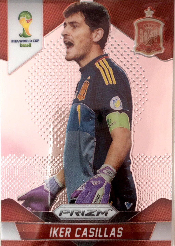 【普拉蒂尼】2014Panini帕尼尼巴西世界杯足球球星卡Iker Casillas卡西利亚斯西班牙NO.170普卡