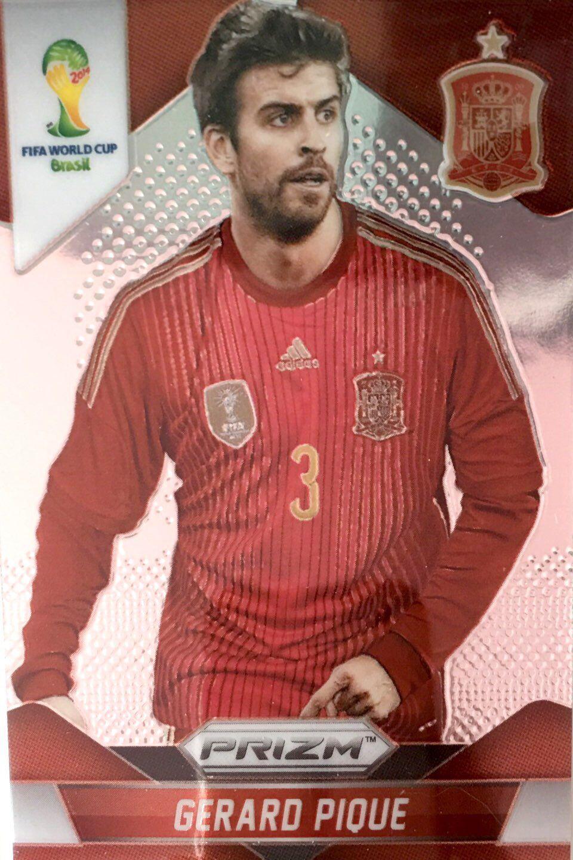 【普拉蒂尼】2014Panini帕尼尼巴西世界杯足球球星卡Gerard Pique皮克西班牙NO.171普卡