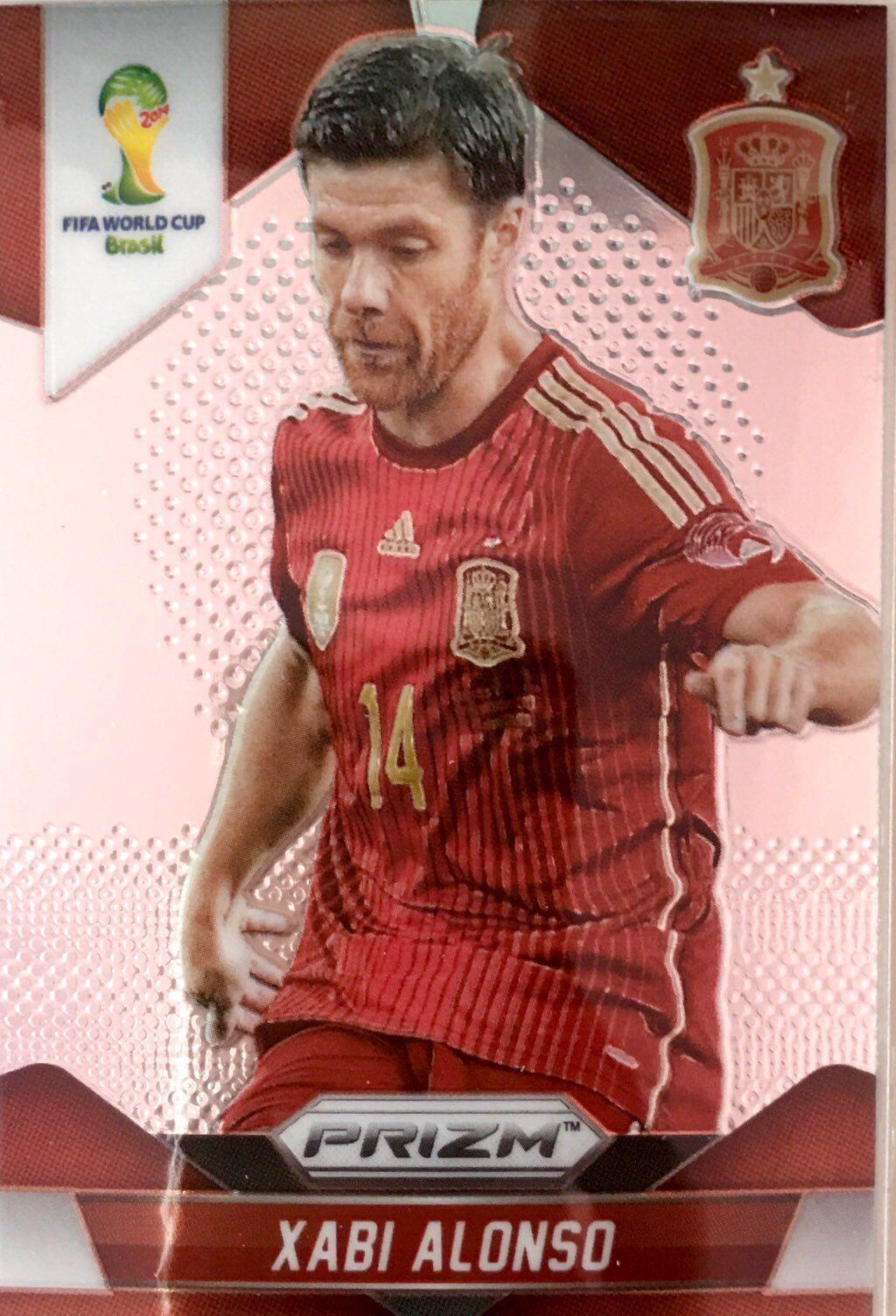 【普拉蒂尼】2014Panini帕尼尼巴西世界杯足球球星卡Xabi Alonso阿隆索西班牙NO.173普卡