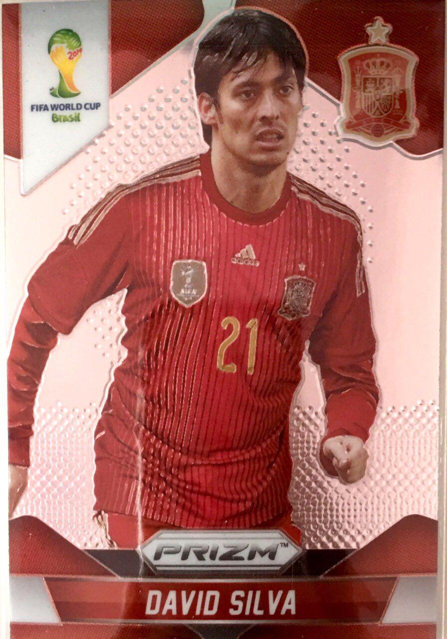 【普拉蒂尼】2014Panini帕尼尼巴西世界杯足球球星卡David Silva大卫·席尔瓦西班牙NO.175普卡