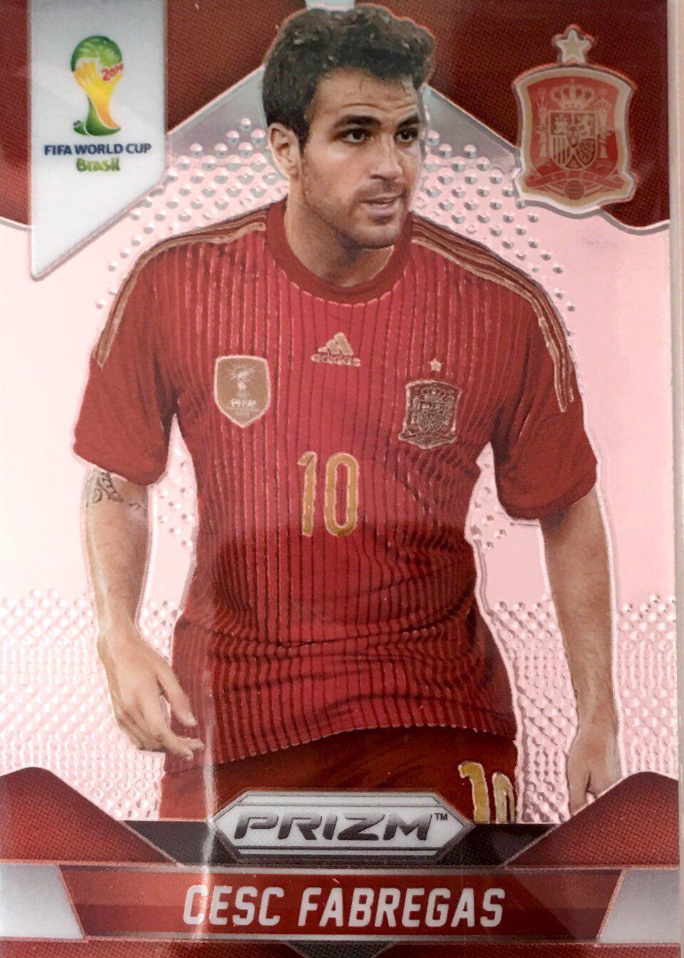 【普拉蒂尼】2014Panini帕尼尼巴西世界杯足球球星卡Cesc Fabregas法布雷加斯西班牙NO.176普卡