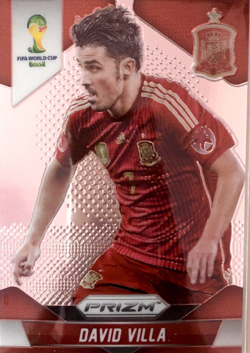 【普拉蒂尼】2014Panini帕尼尼巴西世界杯足球球星卡David Villa比利亚西班牙NO.178普卡