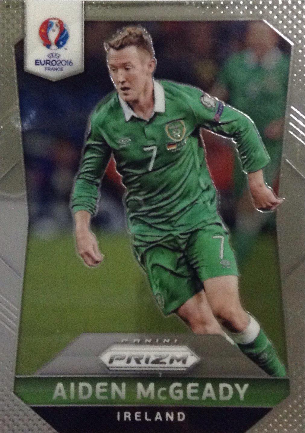 【Ed】2016Panini帕尼尼欧洲杯足球球星卡Aiden McGeady麦克吉迪爱尔兰NO.223普卡