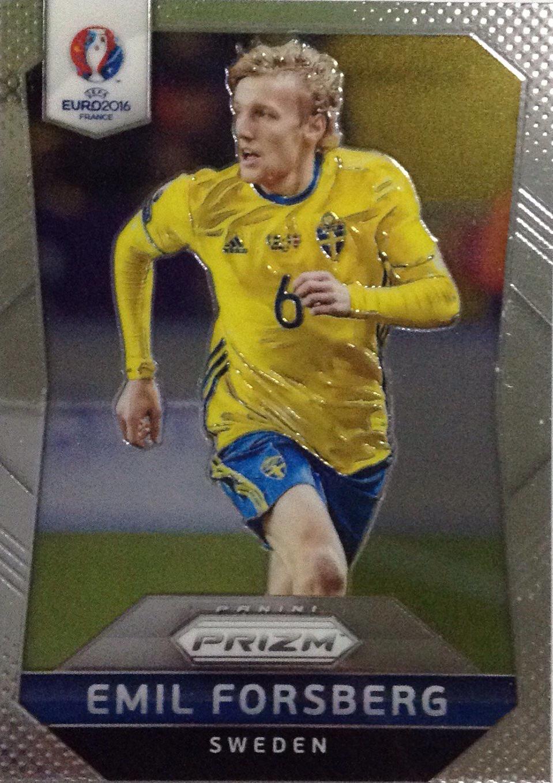 【Ed】2016Panini帕尼尼欧洲杯足球球星卡Emil Forsberg福斯贝里瑞典NO.250普卡