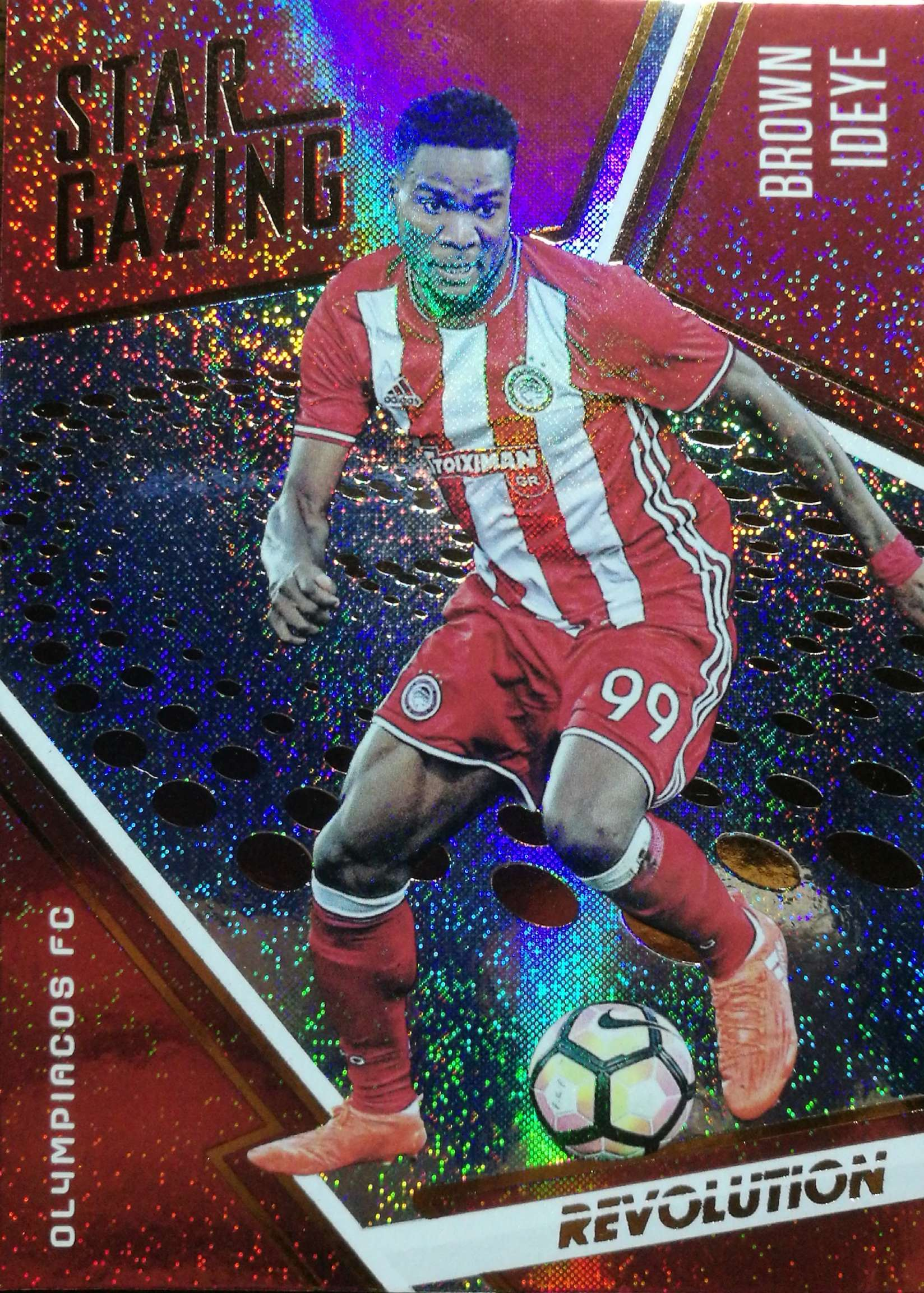 【Ed】 2017 Panini 革命足球球星卡 布朗·伊德耶 Brown Ideye 奥林匹亚科斯 NO.4 观星特卡