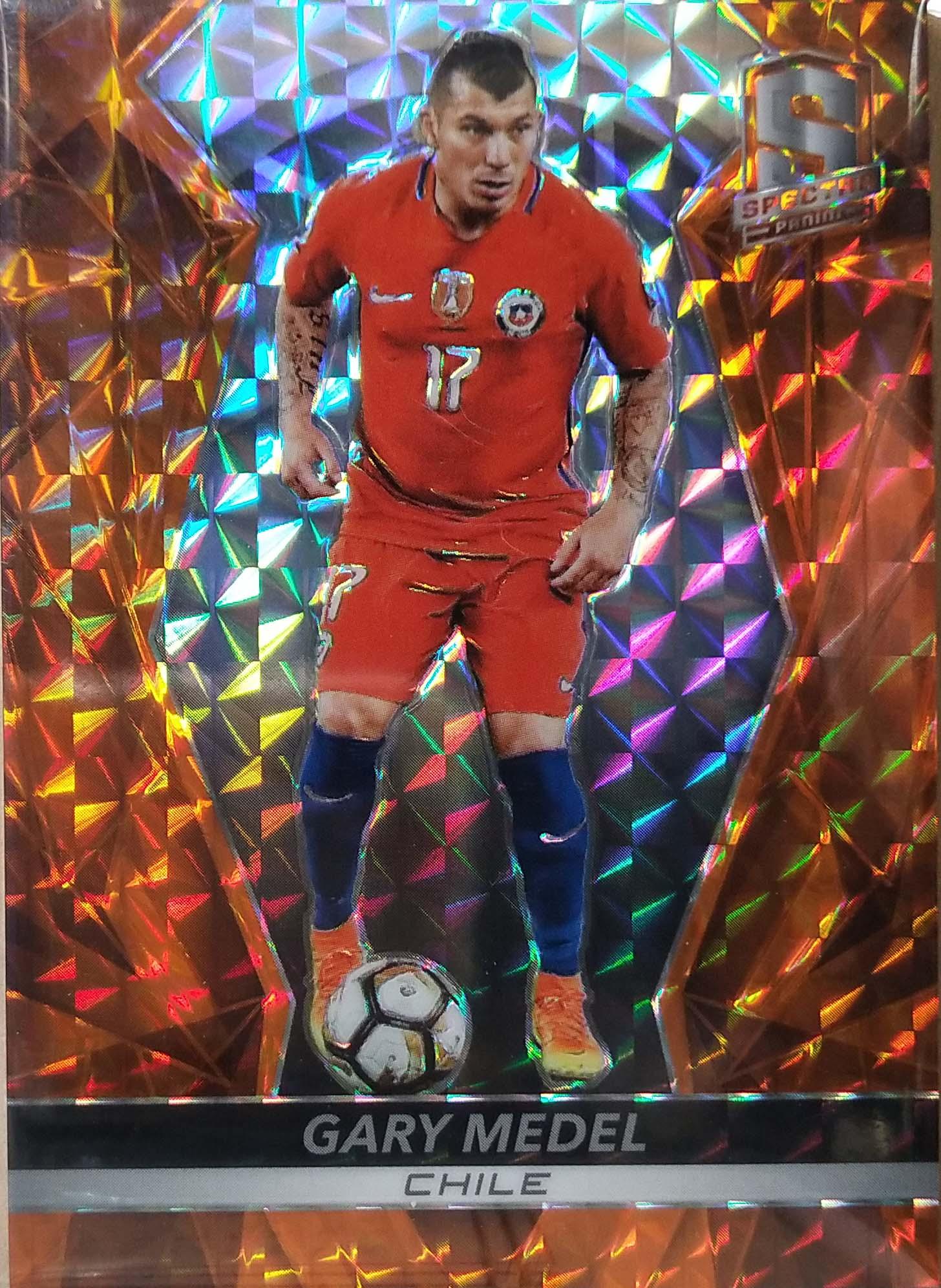 【自若清风】2016Panini帕尼尼光谱足球球星卡Gary Medel梅德尔智利10/10NO.68基础卡