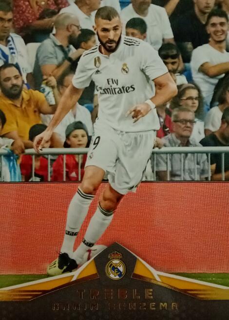 【风筝】2018 panini 三重奏 球星卡 本泽马 Karim Benzema 皇家马德里 NO.137 凑套补齐