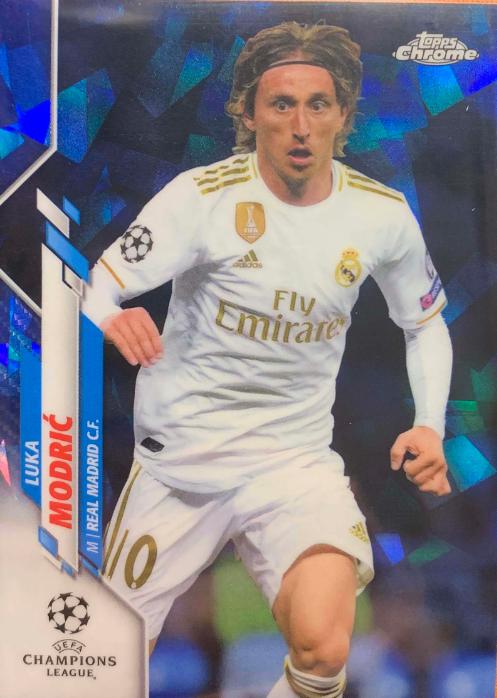 【开心就好】2020 Topps 欧冠Chrome-蓝宝石版 球星卡 莫德里奇 Luka Modric 皇马 Base 蓝 无编 NO.31 普卡