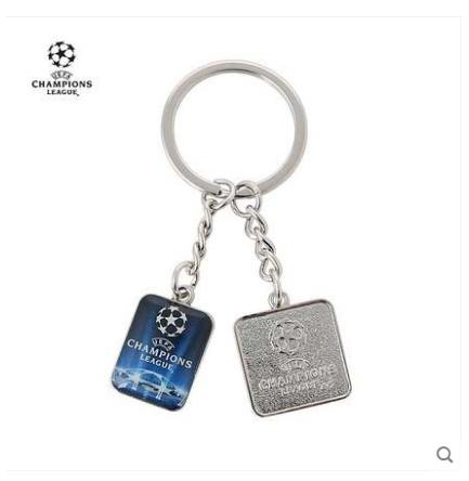 【孚德品牌】欧冠正品双头金属钥匙扣球迷纪念用品