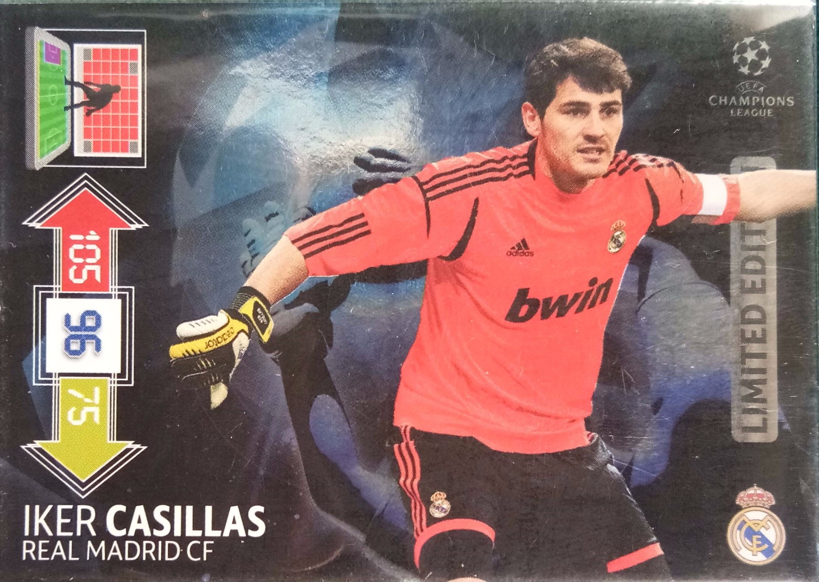 2012-13 Panini 欧冠 限量卡 卡西利亚斯 皇家马德里