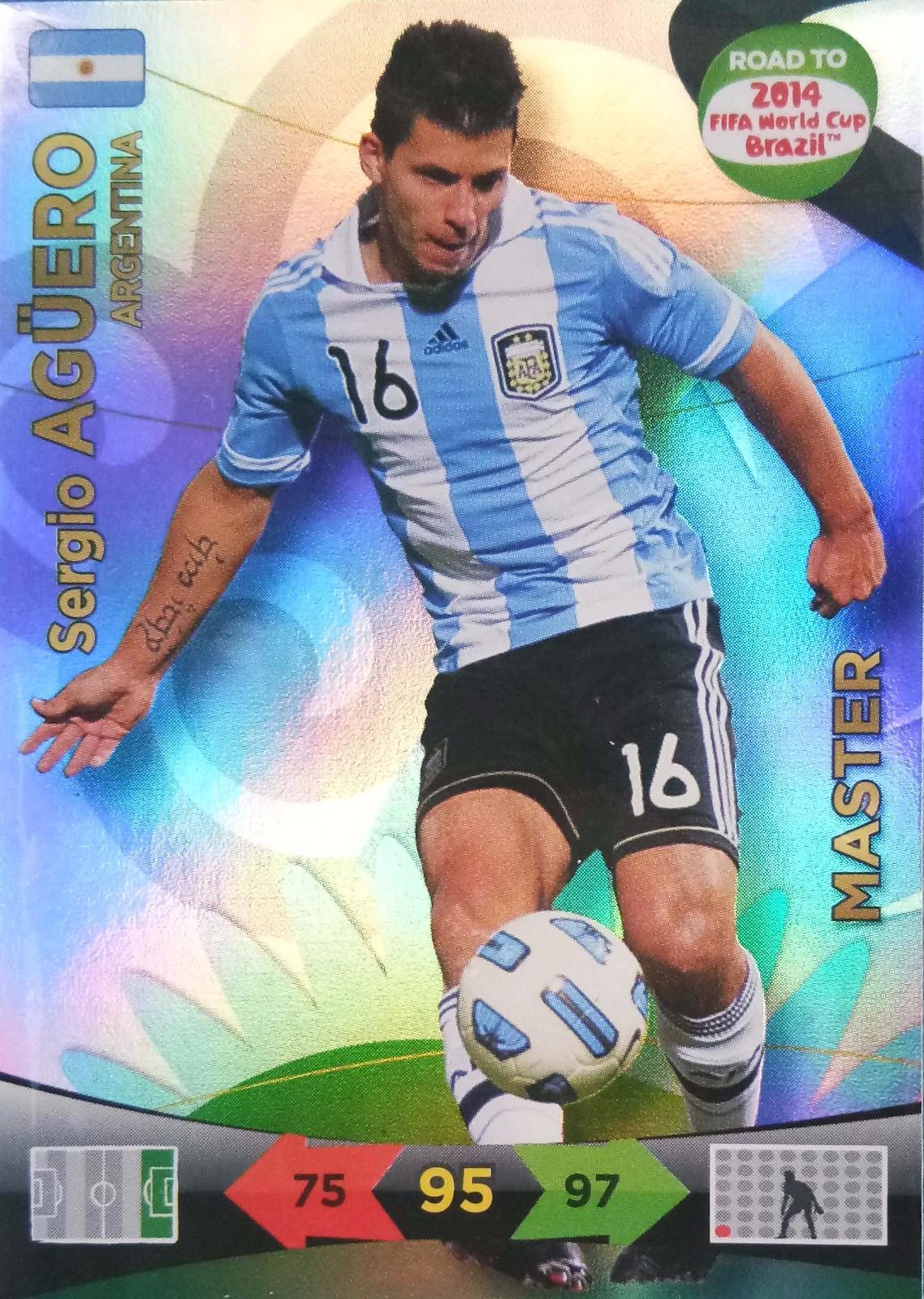 2014 Panini 巴西世界杯 预热版  阿圭罗 阿根廷