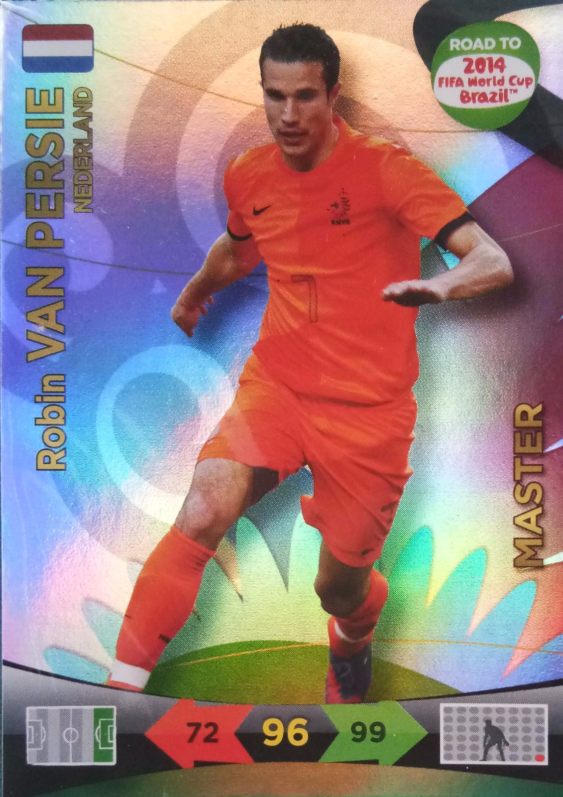 2014 Panini 巴西世界杯 预热版  范佩西 荷兰