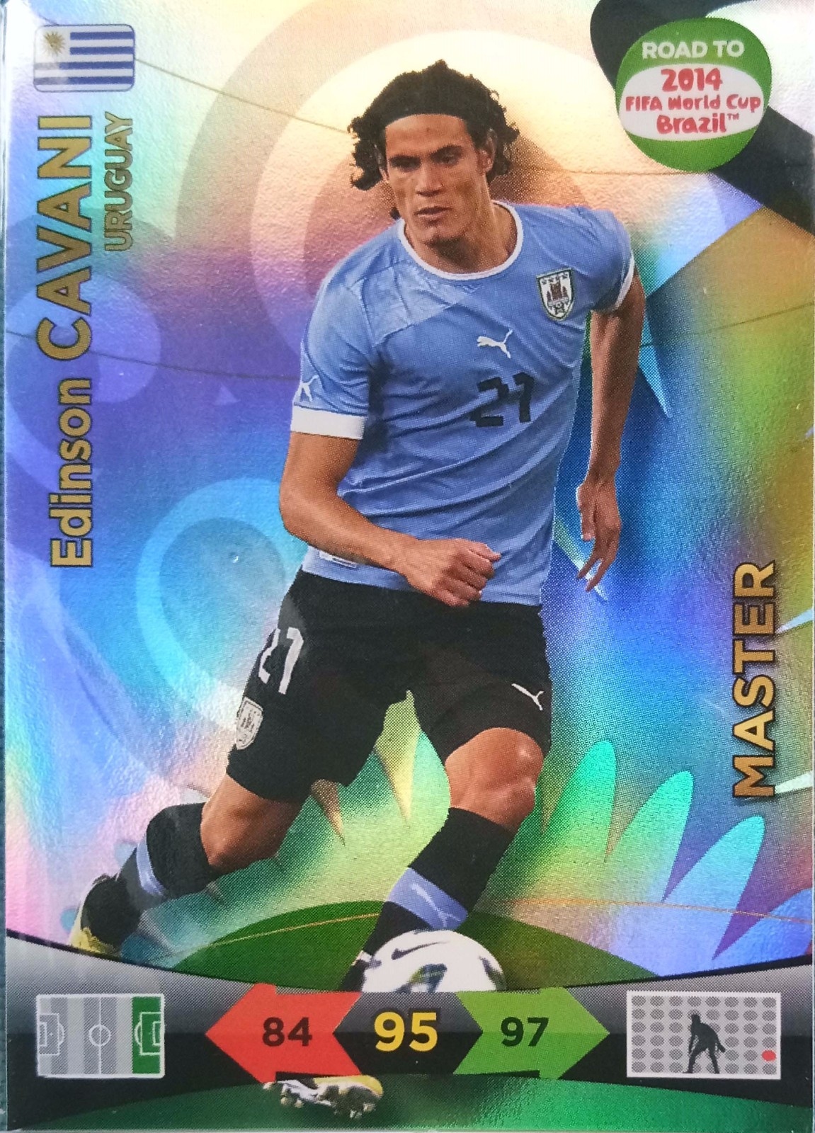 2014 Panini 巴西世界杯 预热版  卡瓦尼 乌拉圭