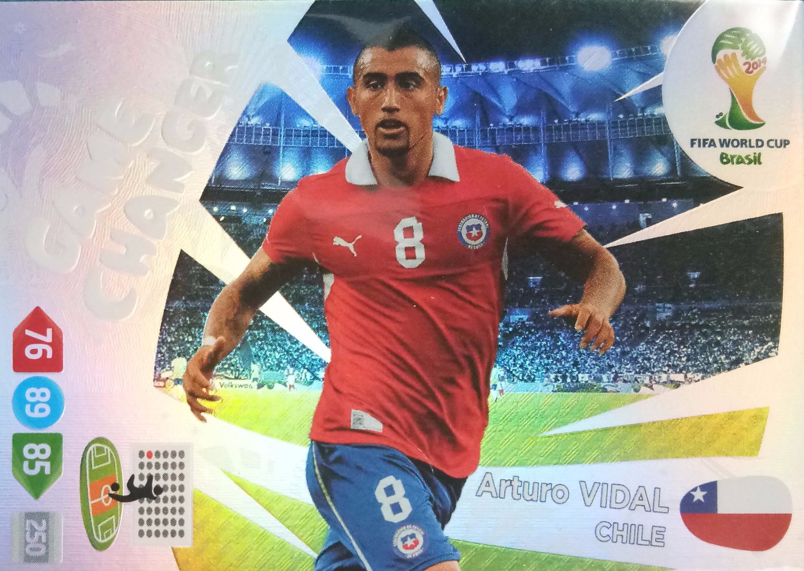 2014 Panini 世界杯游戏版 GC特卡 比达尔 智利