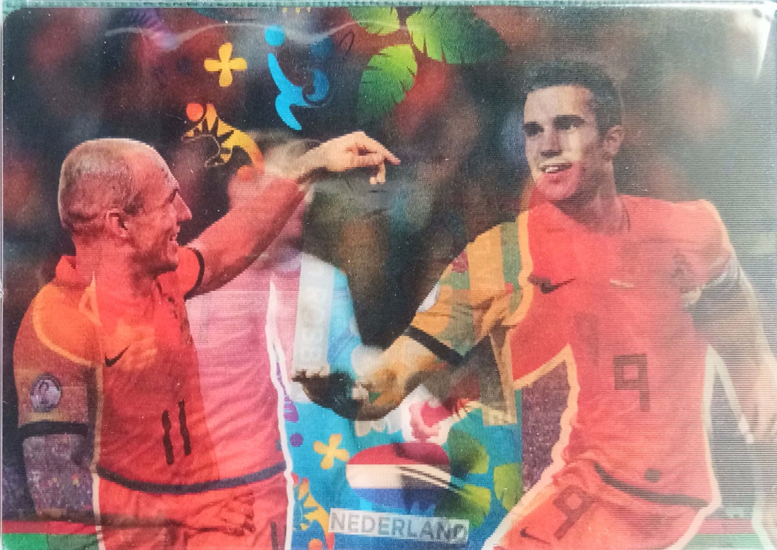 2014 Panini 世界杯游戏版 双人特卡 荷兰 罗本&范佩西